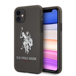 US Polo Apple iPhone 11semi-doorzichtig Backcover hoesje - Horse Logo