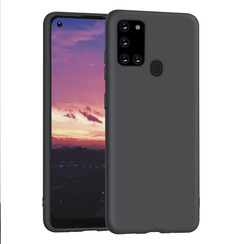 Samsung Galaxy A21S zwart Backcover hoesje - silicone
