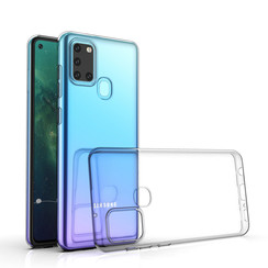Samsung Galaxy A21S Transparent Back cover case - Silicone