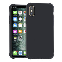 Apple iPhone Xs Max zwart Backcover hoesje - silicone