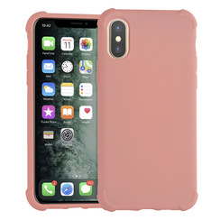 Apple iPhone Xs Max Roze Backcover hoesje - silicone