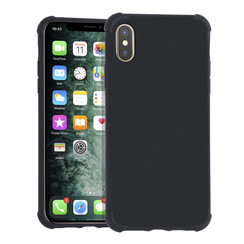 Apple iPhone XR zwart Backcover hoesje - silicone