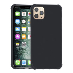 Apple iPhone 11 Pro Max zwart Backcover hoesje - silicone