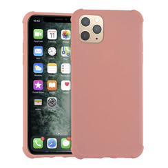 Apple iPhone 11 Pro Max Roze Backcover hoesje - silicone