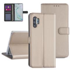 Samsung Galaxy Note 10 Plus Goud Booktype hoesje - Kaarthouder