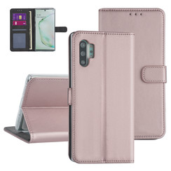 Samsung Galaxy Note 10 Plus Rose Gold Booktype hoesje - Kaarthouder