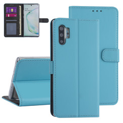 Samsung Galaxy Note 10 Plus Lichtblauw Booktype hoesje - Kaarthouder