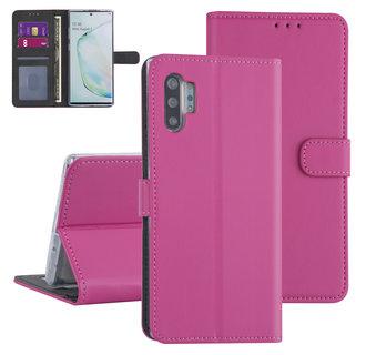Samsung Galaxy Note 10 Plus Felroze Booktype hoesje - Kaarthouder