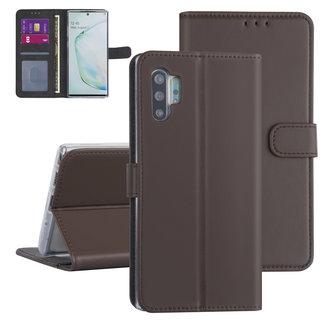 Samsung Galaxy Note 10 Plus Bruin Booktype hoesje - Kaarthouder