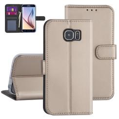 Samsung Galaxy S6 Goud Booktype hoesje - Kaarthouder