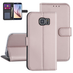 Samsung Galaxy S6 Rose Gold Booktype hoesje - Kaarthouder