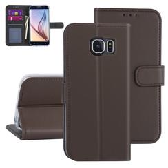 Samsung Galaxy S6 Bruin Booktype hoesje - Kaarthouder