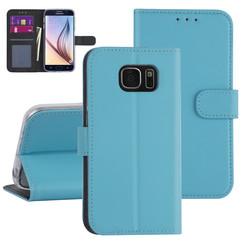 Samsung Galaxy S7 Light blue Book type case - Card holder