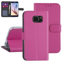 Samsung Galaxy S7 Hot Pink Book type case - Card holder
