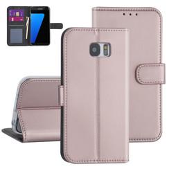 Samsung Galaxy S7 Edge Rose Gold Booktype hoesje - Kaarthouder