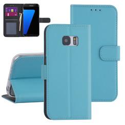 Samsung Galaxy S7 Edge Lichtblauw Booktype hoesje - Kaarthouder