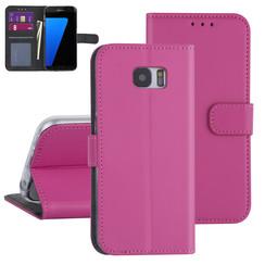 Samsung Galaxy S7 Edge Hot Pink Book type case - Card holder
