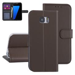Samsung Galaxy S7 Edge Brown Book type case - Card holder