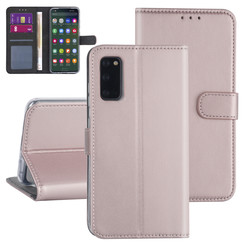 Samsung Galaxy S20 Rose Gold Book type case - Card holder