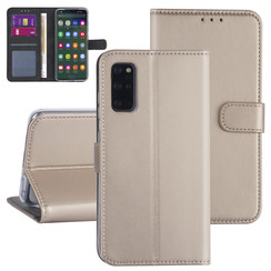 Samsung Galaxy S20 Plus Goud Booktype hoesje - Kaarthouder