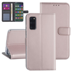 Samsung Galaxy S20 Plus Rose Gold Booktype hoesje - Kaarthouder
