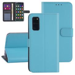 Samsung Galaxy S20 Plus Lichtblauw Booktype hoesje - Kaarthouder
