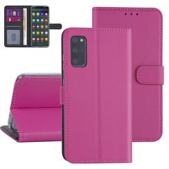 Samsung Galaxy S20 Plus Felroze Booktype hoesje - Kaarthouder