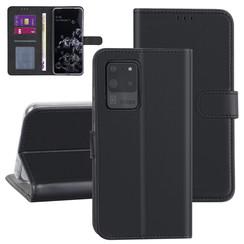 Samsung Galaxy S20 Ultra zwart Booktype hoesje - Kaarthouder