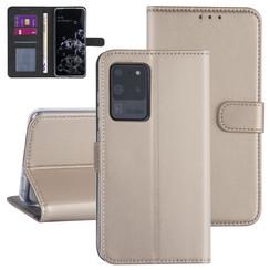 Samsung Galaxy S20 Ultra Gold Book type case - Card holder
