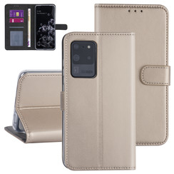Samsung Galaxy S20 Ultra Goud Booktype hoesje - Kaarthouder