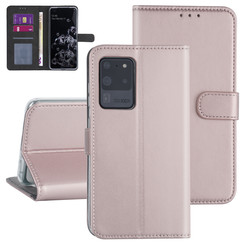 Samsung Galaxy S20 Ultra Rose Gold Booktype hoesje - Kaarthouder
