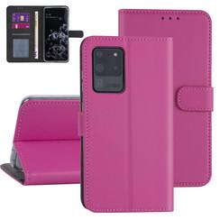 Samsung Galaxy S20 Ultra Felroze Booktype hoesje - Kaarthouder