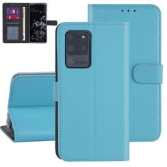 Samsung Galaxy S20 Ultra Lichtblauw Booktype hoesje - Kaarthouder