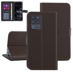 Samsung Galaxy S20 Ultra Bruin Booktype hoesje - Kaarthouder