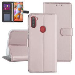 Samsung Galaxy A11 Rose Gold Book type case - Card holder