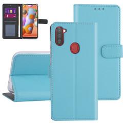 Samsung Galaxy A11 Lichtblauw Booktype hoesje - Kaarthouder