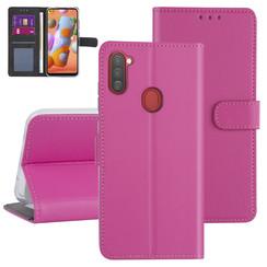 Samsung Galaxy A11 Hot pink Book type case - Card holder