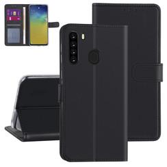 Samsung Galaxy A21 zwart Booktype hoesje - Kaarthouder