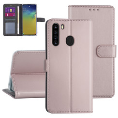 Samsung Galaxy A21 Rose Gold Booktype hoesje - Kaarthouder
