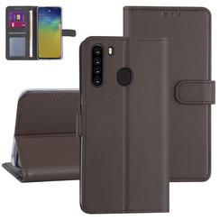 Samsung Galaxy A21 Bruin Booktype hoesje - Kaarthouder