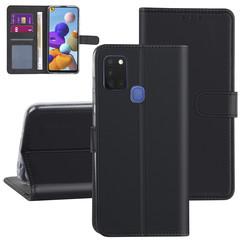 Samsung Galaxy A21S zwart Booktype hoesje - Kaarthouder