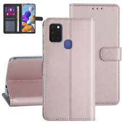 Samsung Galaxy A21S Rose Gold Booktype hoesje - Kaarthouder