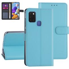 Samsung Galaxy A21S Lichtblauw Booktype hoesje - Kaarthouder