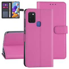 Samsung Galaxy A21S Hot pink Book type case - Card holder