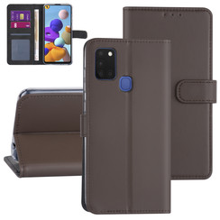 Samsung Galaxy A21S Brown Book type case - Card holder