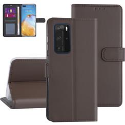 Huawei Huawei P40 Pro Brown Book type case - Card holder