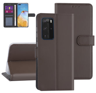 Huawei Huawei P40 Pro Brown Book type case - Card holder