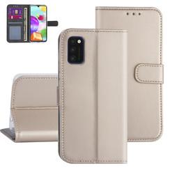 Samsung Galaxy A41 Goud Booktype hoesje - Kaarthouder