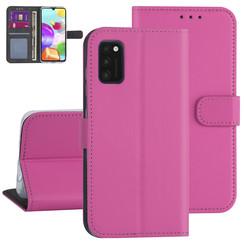 Samsung Galaxy A41 Felroze Booktype hoesje - Kaarthouder