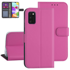 Samsung Galaxy A41 Hot pink Book type case - Card holder